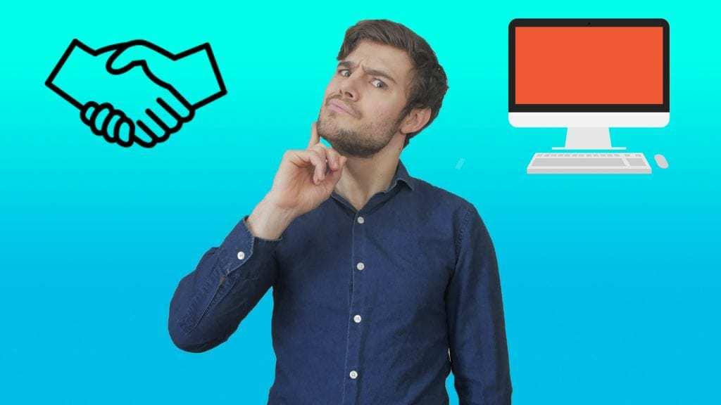 should you network (shake hands) or online promotion (computer)