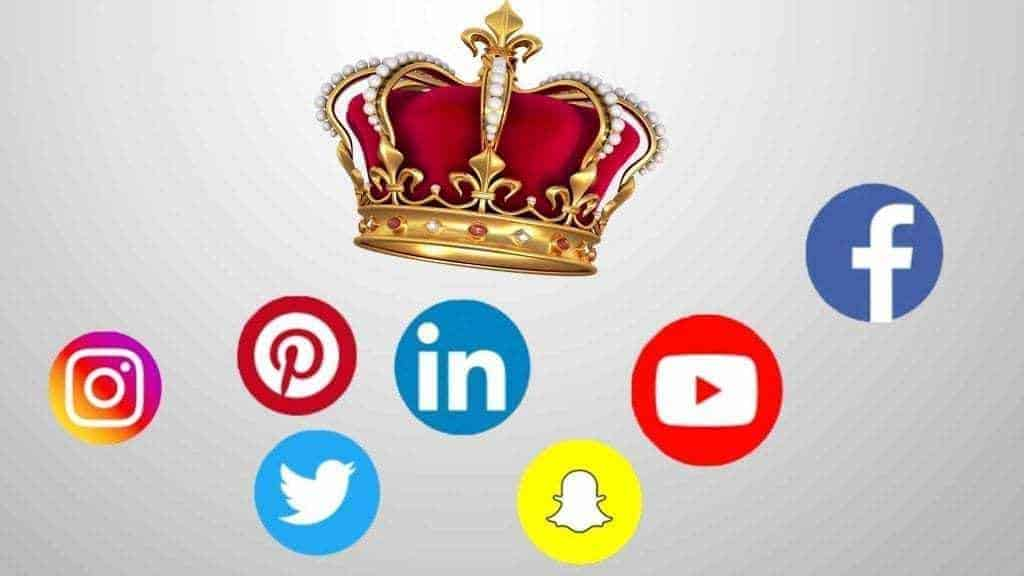 Crown with social media icons
