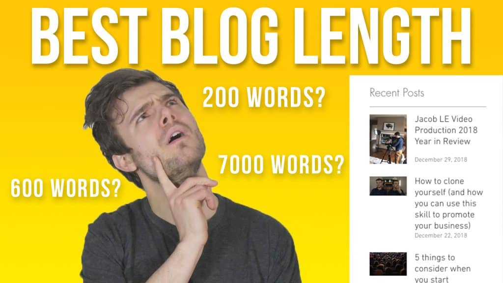 headshot thinking of best blog length for SEO