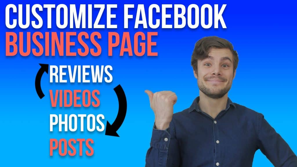 how to change facebook business page order text