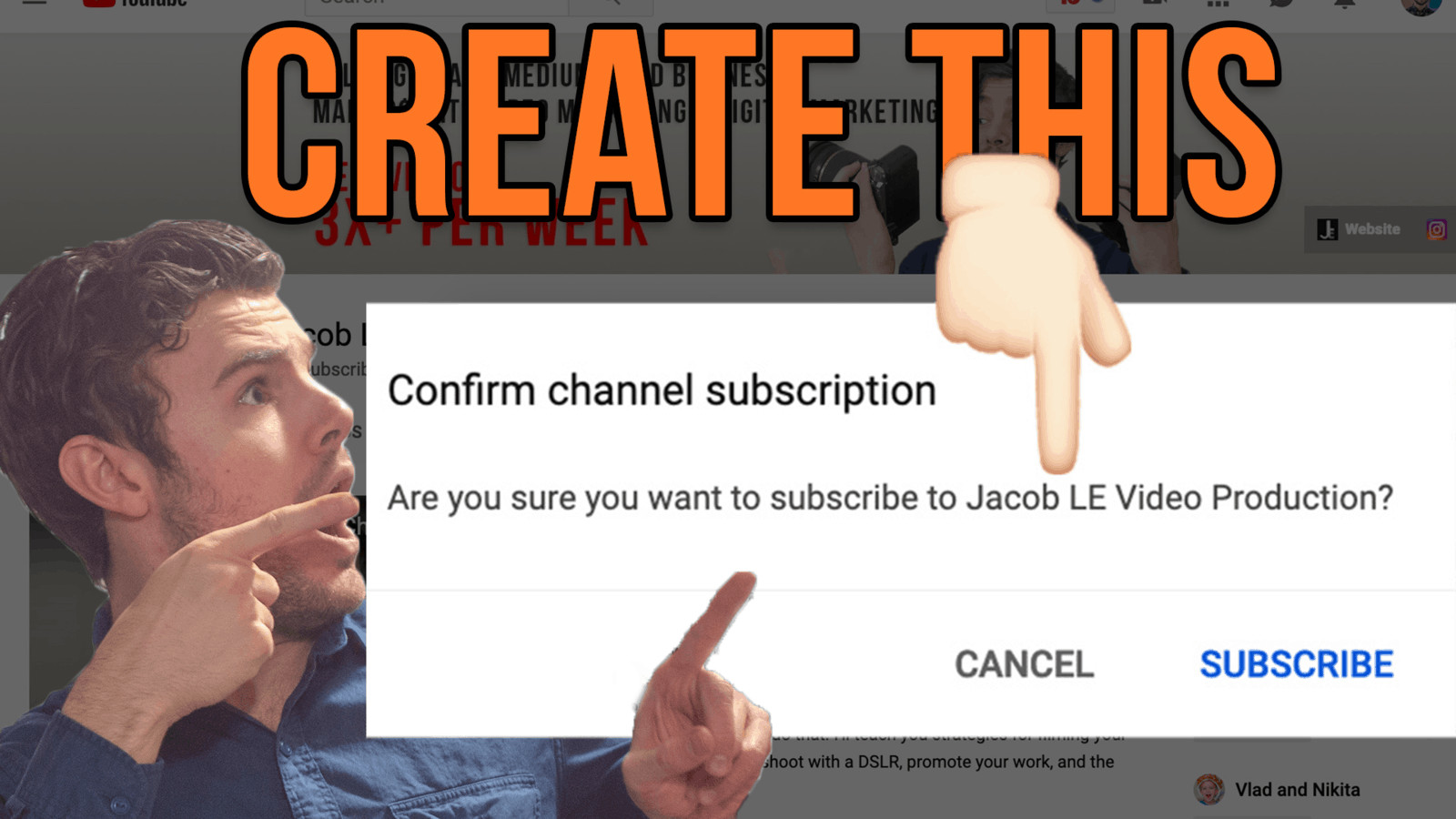 pointing at channel sub