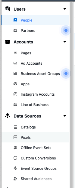 Facebook business manager pixel