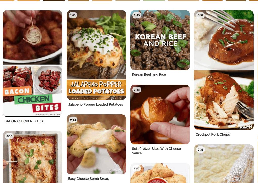 pinterest recipe videos