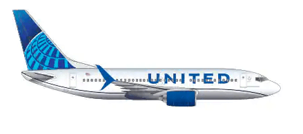 United Airlines Booeing 737