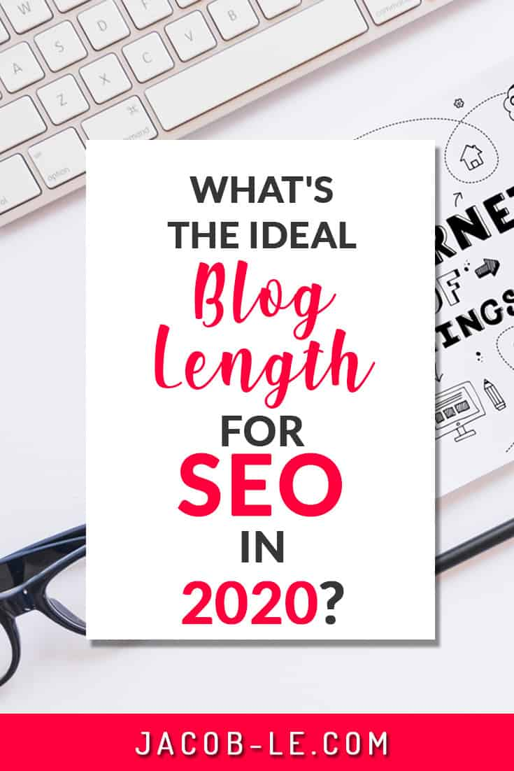 pinterest pin on the ideal blog post length for SEO