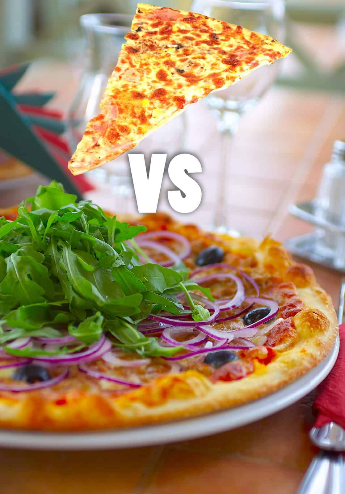 cheap pizza vs expensive pizza