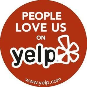 people love us on yelp logo