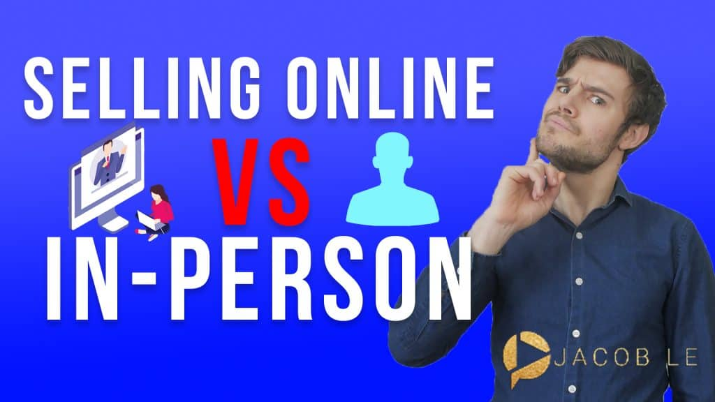 selling online vs in person with computer