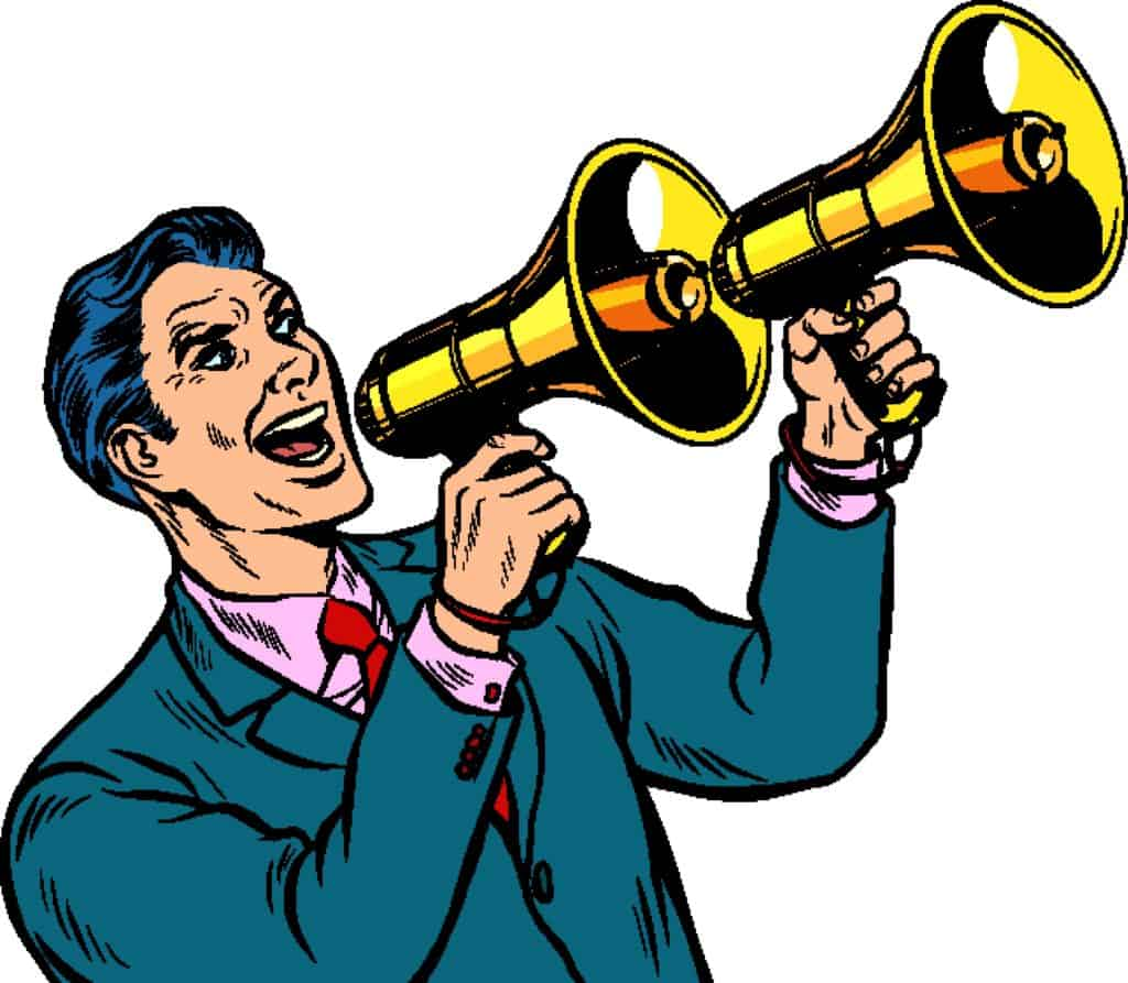 advertising sharing message with megaphone