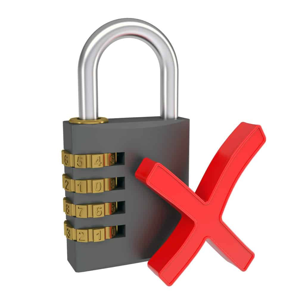 lock don't change ad campaign